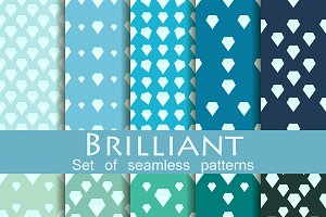 Brilliant set of seamless patterns