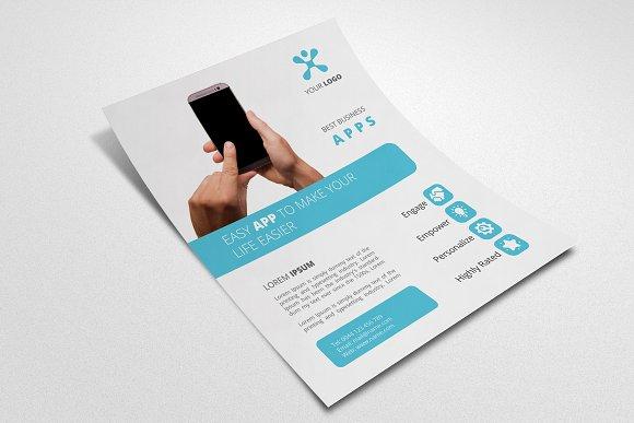 mobile app promotion flyer 004 flyer templates creative market