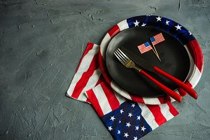 4th July table setting