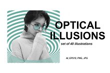 40 optical illusions by Iryna Chaus in Illustrations