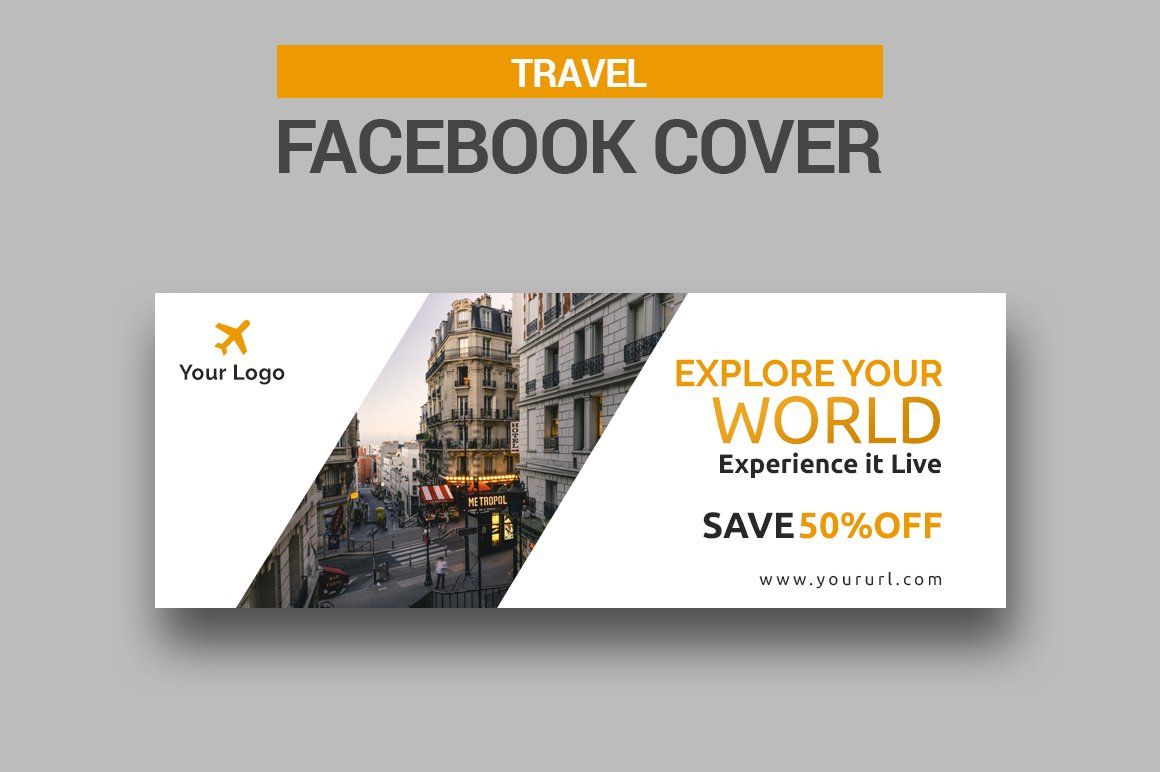 Travel Facebook Cover Templates Creative Market