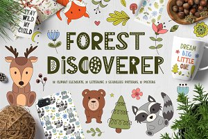 Forest Discoverer - Clip art+Posters