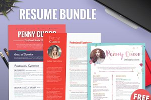 Teacher Resume Template Bundle