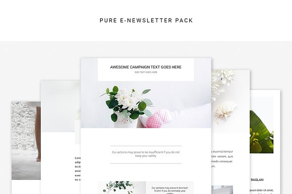 Pure E-newsletter Pack