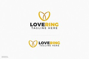 Heart Wedding Ring Logo