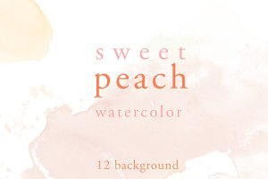 Sweet Peach Water Color