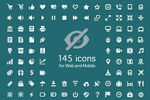 Set of 145 quality icons