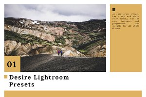 16% off Desire Lightroom presets