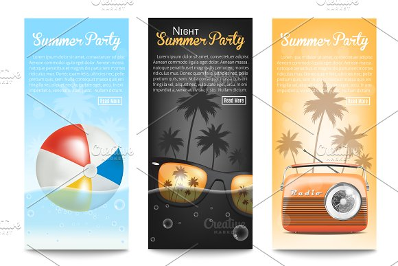 Summer Party Banners