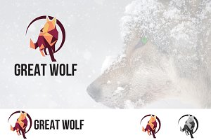 Great Wolf Low Poly Logo