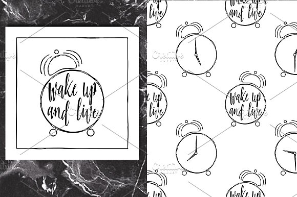 Wake Up Lettering Pattern