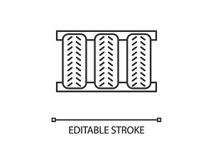 Car tires linear icon