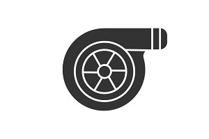 Turbocharger glyph icon