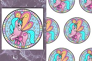 Unicorn + Seamless Pattern