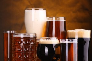 Beer glass variety