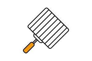 Hand grill color icon