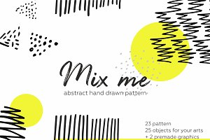 Mix me! 50pcs hand drawn pattern.