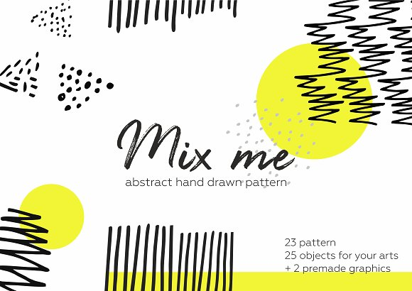 Mix me! 50pcs hand drawn pattern.
