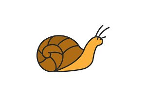 Snail color icon