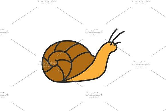 Snail Color Icon