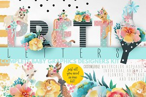 Pretty Letters - Baby Designers Kit