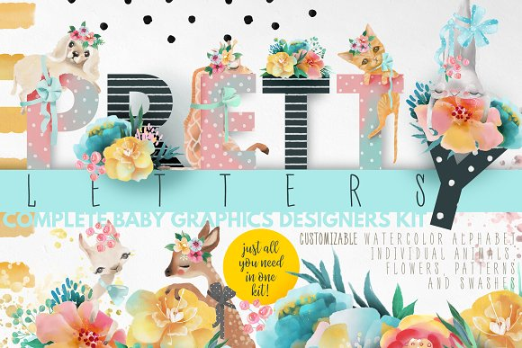 Pretty Letters Baby Designers Kit