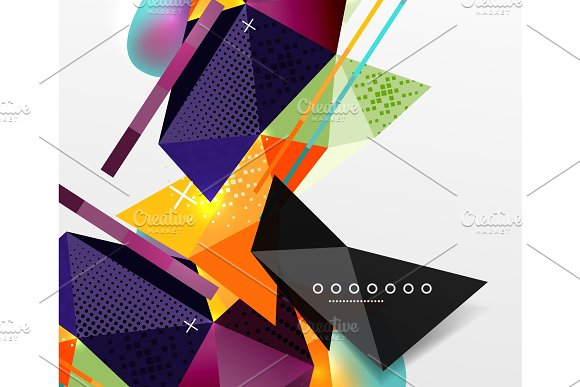 Abstract Geometric Background Polygonal Triangle Elements Lines And Material Textures Holographic Elements