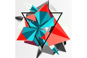 3d polygonal elements abstract background