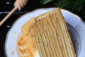 Honey Cake with Sour Cream