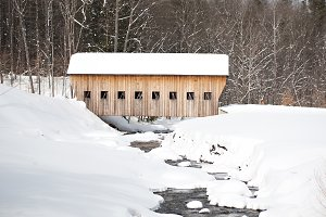Covered Wooden Bridge Snowy River