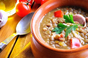 Lentil stew traditional
