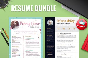 2Resume Templates + FREE CoverLetter