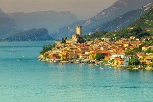 Malcesine resort and lake Garda