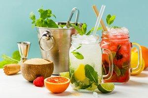 Fresh cocktail drinks