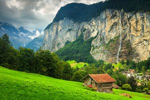 Lauterbrunnen alpine village
