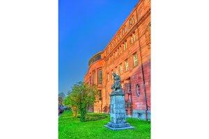Statue in front of the Freiburg University. Freiburg im Breisgau, Germany