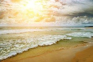 Toned picture sea landscape