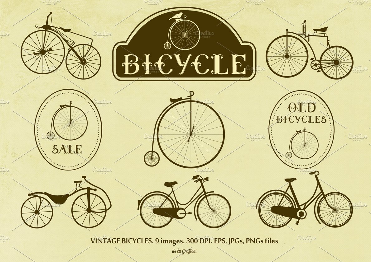Furniture logo vector free download - Vintage Bicycles