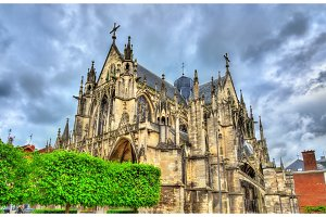 Gothic Basilica Saint Urbain of Troyes in France