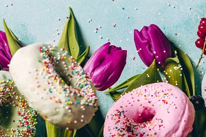 doughnuts and flowers