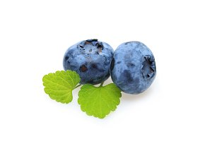 blueberry berries isolated on white background