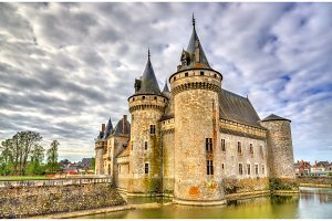 Chateau de Sully-sur-Loire, on of the Loire Valley castles in France