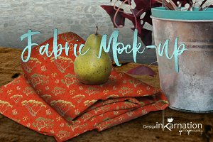 Folded Fabric Mockup