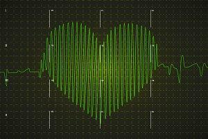 Human electrocardiogram graph