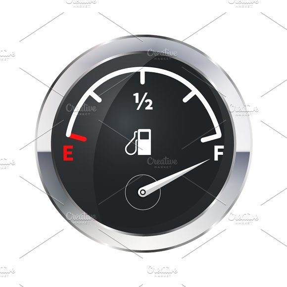 Full Tank Of Fuel Glossy Icon