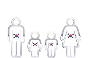 People icon with South korea flag