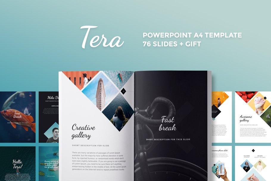 A4   Tera PowerPoint Template ~ PowerPoint Templates ~ Creative Market