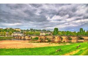 Pont de Chinon, a bridge across the Vienne in Chinon, France