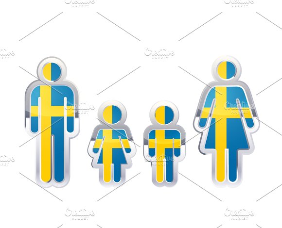 People Icon With Sweden Flag