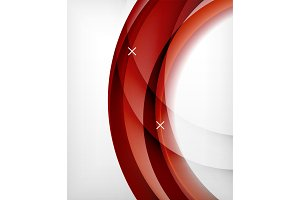 Glossy wave vector background with light and shadow effects, white cross shapes